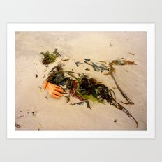 swept away by the tide  Art Print