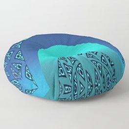 Orgy in blue pattern Floor Pillow