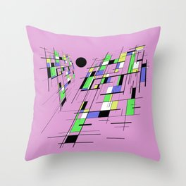 Bad perspective - Abstract, vector, geometric, 3D style artwork Throw Pillow
