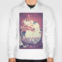 the last unicorn Hoodies featuring The Last Unicorn by Lara Pratt