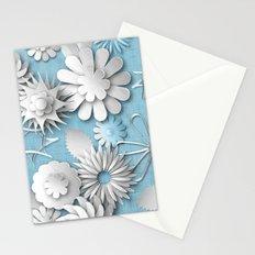 Paper Cut Flowers (Cornflower Blue) Stationery Cards