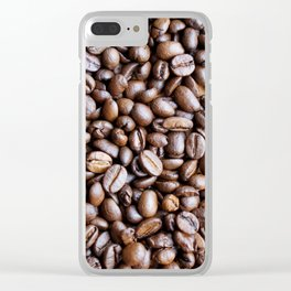 Coffee beans Clear iPhone Case