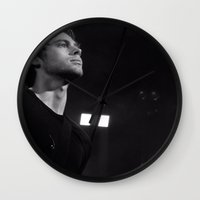 luke hemmings Wall Clocks featuring L HEMMINGS CLEVELAND by Halle