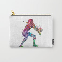 Volleyball Girl Watercolor Print Girls Room Decor Volleyball Poster Girl Volleyball Wall Art Carry-All Pouch