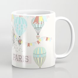 Design with hand drawn Eifel tower Coffee Mug
