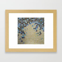 Apis Blue Framed Art Print