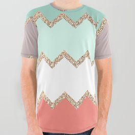 AVALON CORAL MINT All Over Graphic Tee