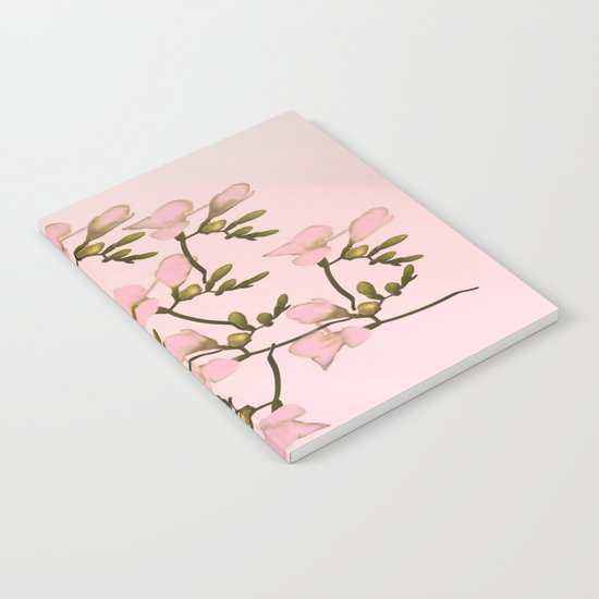 Painterly Pretty Pink Floral Notebook