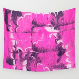 marble tie dye: bright pink Wall Tapestry