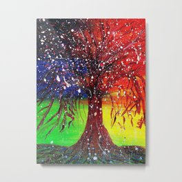Magic Dew Drop Tree Metal Print