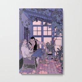 Sunny Porch In Color Metal Print