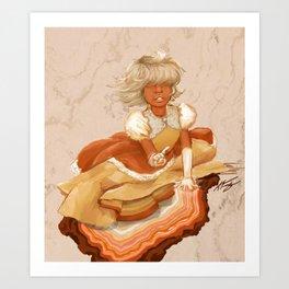 Hindsight Sapphire Art Print