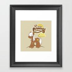My Little Pawnee Framed Art Print