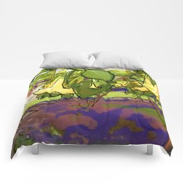 Healing Flowers Comforters