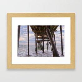 Under Frisco Pier Framed Art Print
