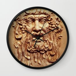 Face From a Fountain Wall Clock