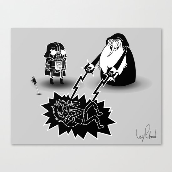 Adventure Wars - Black & White Canvas Print