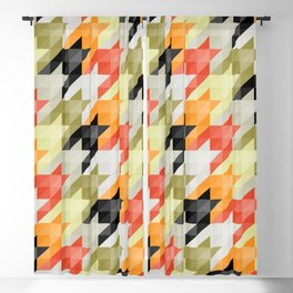 Multicolored origami houndstooth Blackout Curtain