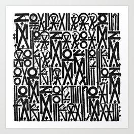 TYPO--ART Art Print