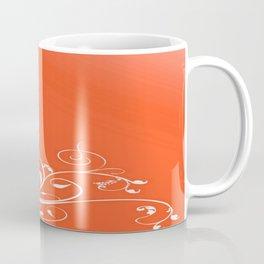 White Valentine Hearts On Red Background Coffee Mug