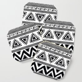Tribal black and white Coaster