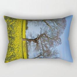 Sunny Delight (Portrait),OSR field in flower Rectangular Pillow