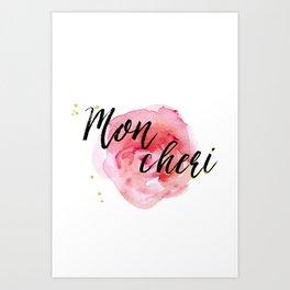 Mon Cheri Art Print