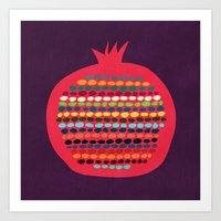 pomegranate Art Prints featuring Pomegranate by Picomodi