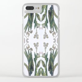 Forget Me Nots Study Dos Clear iPhone Case