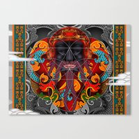 sacred geometry Canvas Prints featuring Sacred Geometry by Robin Curtiss