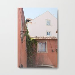 Red House with Ivy, Sintra Metal Print