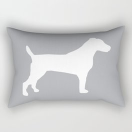 Jack Russell Terrier gray and white minimal dog pattern dog silhouette Rectangular Pillow