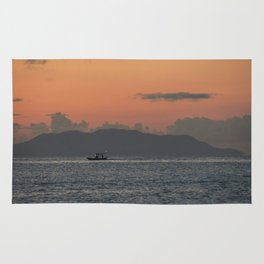 Sailing lonely Rug