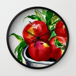 Life is Just a Bowl of Apples Wall Clock