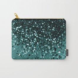Teal Mermaid Ocean Glitter #3 #shiny #decor #art #society6 Carry-All Pouch