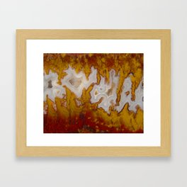 Cady Mountain Yellow Flame Agate Framed Art Print
