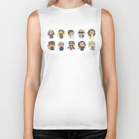 cyrilliart Biker Tanks featuring Emoji 1D by Cyrilliart
