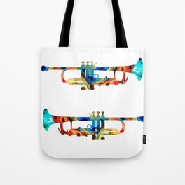 Colorful Trumpet Art By Sharon Cummings Tote Bag