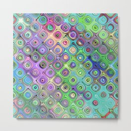Abstract Pattern of Colorful Shapes  Metal Print