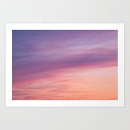 Colorful sunset clouds at dusk sky scape Art Print