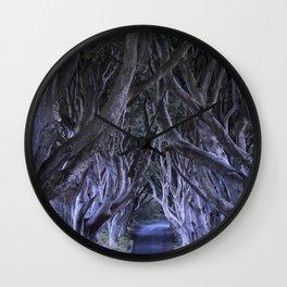 The Dark Hedges III Wall Clock