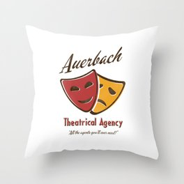 Auerbach Theatrical Agency Throw Pillow