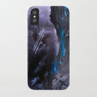 planet iPhone & iPod Cases featuring Extraterrestrial Landscape : Galaxy Planet by 2sweet4words Designs