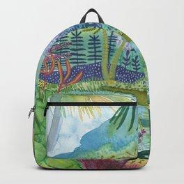 Jungle Paradise Watercolor Backpack