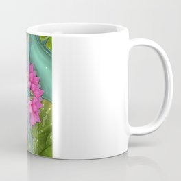 Dragonfly and Water Lily Coffee Mug