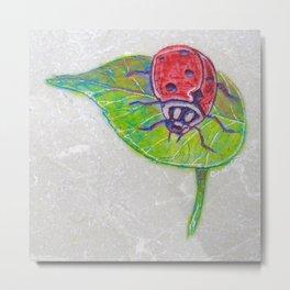 Ladybug Etching, Engraving By Catherine Coyle  Metal Print