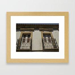 Monsanto balconies Framed Art Print