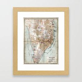 Vintage Map of Halifax Nova Scotia (1890) Framed Art Print