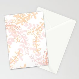 Kay - Blush and Pink Floral Print Stationery Cards