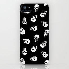 Gossiping Skulls iPhone Case